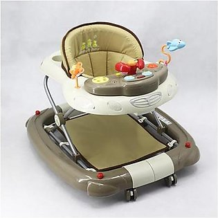 Mama & Baby Walker with Rocker T1083H Khaki & Brown
