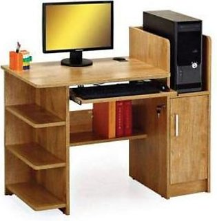 Laminated Wood Computer + Study Table Brown