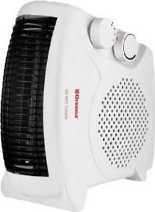Oreena Adjustable Room Thermostat Fan Heater White