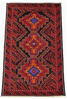Oriental Carpet Gallery 4 x 6 Hand-Knotted Tribal Area Rug Red