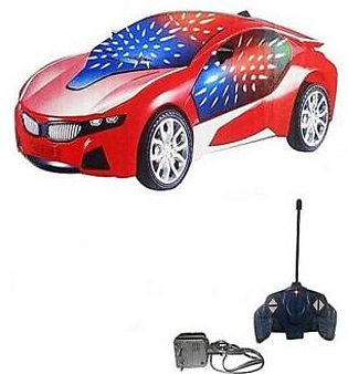 3D Led Chargeable Remote Control Car Red