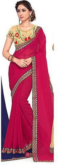 Ruchika Saree for Women Pink & Golden