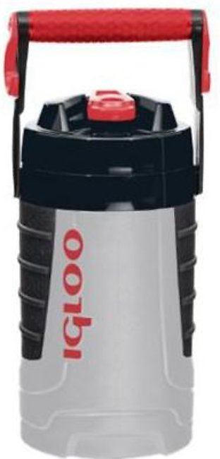 Igloo Half Gallon Water Bottle 31029 Grey and red heat