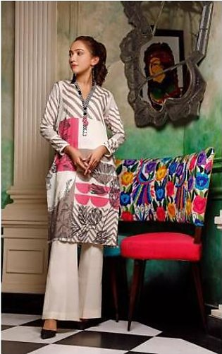 Oaks Unstitched Kurti for Women OLK-3625-A White & Black