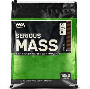 Optimum Nutrition Serious Mass Chocolate Flavour 12 lbs