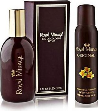 Royal Mirage Pack Of 2 Cologne Spray & Deodorant For Men