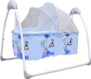 Stinnos Baby Cot Cradle With Movable Basket & Mosquito Net
