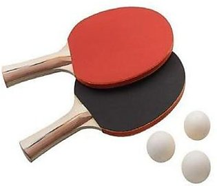 Table Tennis Racket Pair with 3 Balls DWS161 Multicolor