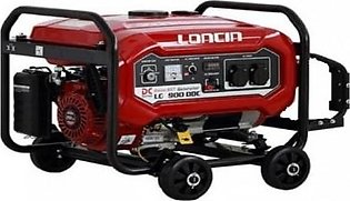 LONCIN 3.1 KW Petrol & Gas Generator with Wheels Kit LC5900DDC Red
