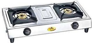 Gas Stove 2 Burner BS-11 Silver