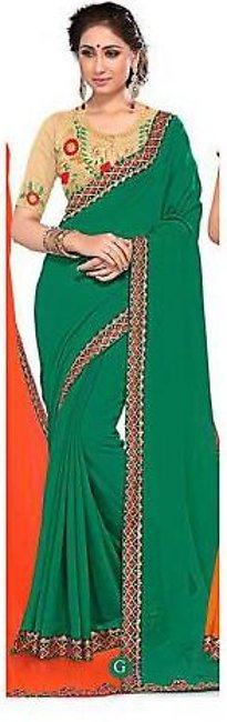 Ruchika Saree for Women Green & Golden