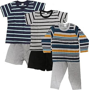 Wokstore Garments Pack of 3 Casual Suits For Babies Multi Color