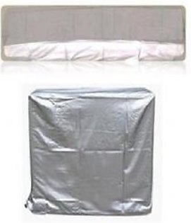 AM Shopping 1 Ton Ac Inverter Dust Cover For Indoor and Outdoor Unit AM017 Silver