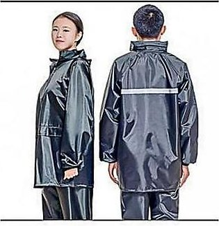 Parachute Rain Coat Suit With Trouser For Unisex Blue