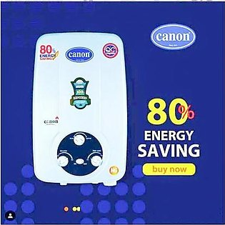 Canon Instant Gas Water Heater Geyser 6 To 8 Ltrs Ng + Lpg Supported White