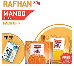 Buy 1 Pack of 2 Rafhan Mango Jelly 80 gm and get free sachet with Free Rafhan O…