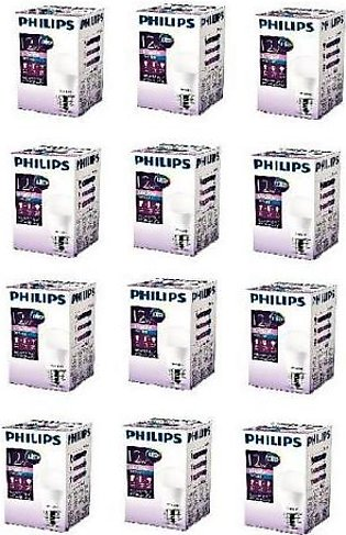 Philips Pack Of 12 Ess LED Bulb 12W E27 Cool Day Light PL-043