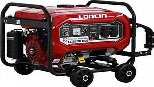 LONCIN 2.5 kW Petrol & Gas Generator with Wheels Kit LC3600DDC Red & Black