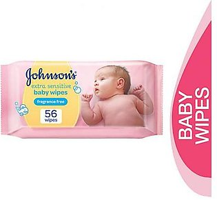 Johnsons 56 Pcs Extra Sensitive Baby Wipes Pack