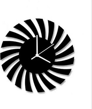 Designer Wall Clock Black