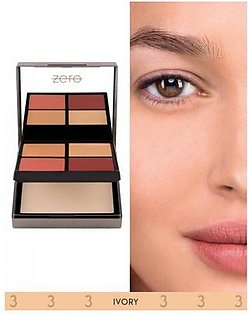 Zero Makeup All In One Face Perfecting Palette Ivory