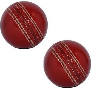 Pack of 2 Cricket Hard Ball Red
