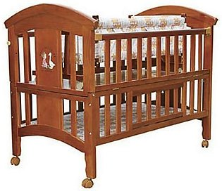 Mama & Baby Fancy Wooden Cot For Baby 8103 Brown