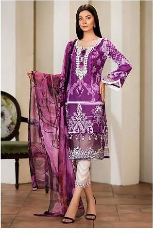 Sifona 3 Pcs Unstitched Suit MSC-11 Purple