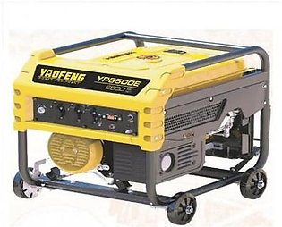 6.5 KW Heavy Duty Petrol & Gas Generator YP6500E Yellow & Black