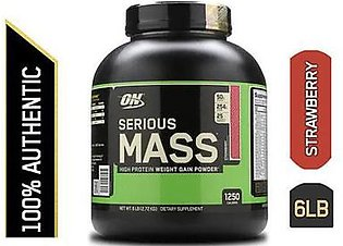 Optimum Nutrition Serious Mass Weight Gainer Powder 6 lbs Strawberry