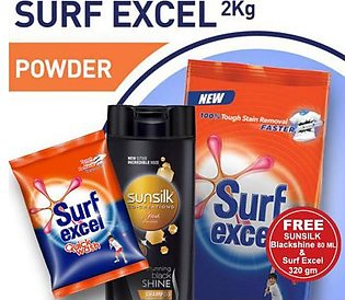Free Sunsilk 80 ML & Surf Excel 320 Gm With Surf Excel 2 Kg