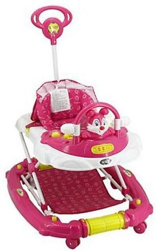 Mama & Baby Walker with Rocker Rabbit 3290E-908 Pink