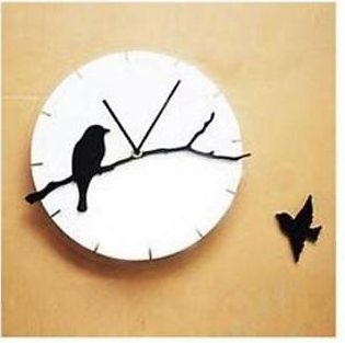 ProtonX Birds Design Acrylic Wall Clock PX26 White