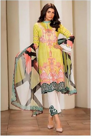 Sifona 3 Pcs Unstitched Suit MSC-07 Lime Green
