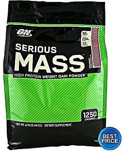 Optimum Nutrition Serious Mass Strawberry Flavour 12 lbs