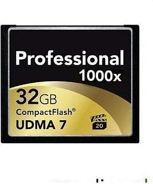 Memory Card Professional Cf 1000X (120Mb/S) 32Gb Black