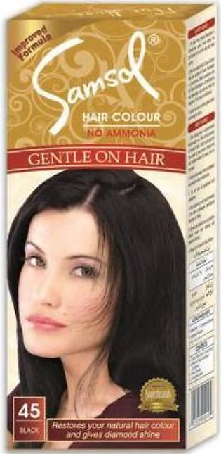 Samsol Hair Color, 45 Small Black