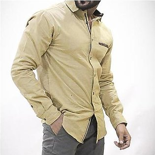 Red Tree Casual Shirt for Men RT3055 Beige
