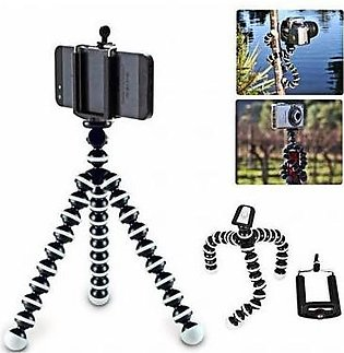 Octopus Mini Gorilla Tripod Stand For Smartphone And Action Cameras 5 Inch Black