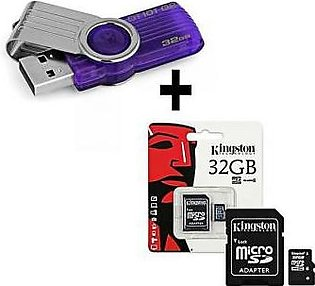 Kingston 32GB Data Travelor 101 USB Device + 32GB Micro Memory Card