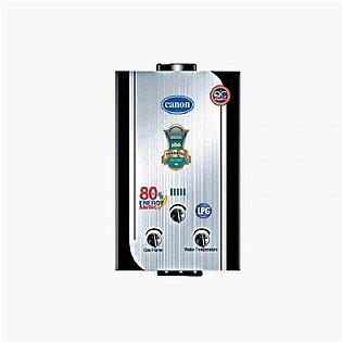 Canon Instant Gas Water Heater Geyser 6 To 8 Ltrs Ng + Lpg Supported Silver