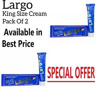 Pack of 2 - Largo King Size Cream