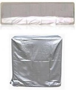 AM Shopping 1 Ton Ac Dust Cover For Indoor and Outdoor Unit AM Shopping102 Silver