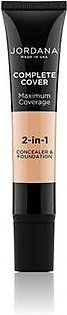 Jordana Complete Cover 2 in 1 Concealer & Foundation Natural Beige