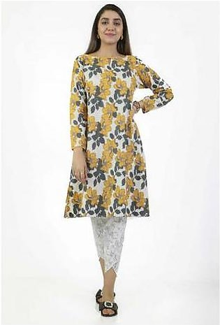 Ego Mustard Flowers 2 Pcs Suit for Women E03649-OW0 Off White