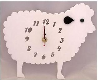 ProtonX Sheep Acrylic Wall Clock PX12 White
