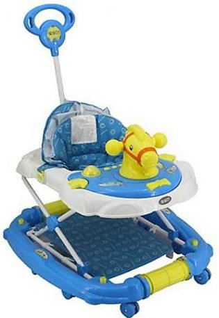 Mama & Baby Walker with Rocker Horse 3290A-277 Blue