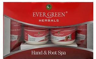 Ever Green Manicure Pedicure Hand & Foot Spa Kit White