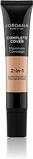 Jordana Complete Cover 2 in 1 Concealer & Foundation Natural Olive