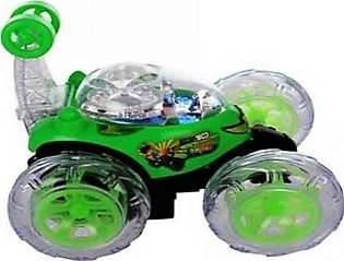Remote Control Stunt Car for Kids Green